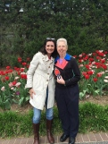Strolling with Franciscan Sister Monica at the Missouri Botanical Gardens.
